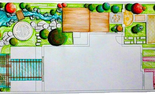 160多平方米庭院花园设计