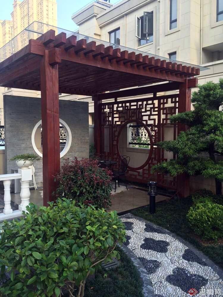 160多平方米庭院花园设计图片