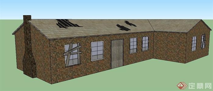一栋简陋民房建筑设计SU模型