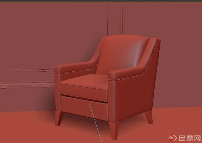 室内装饰现代单人沙发3dmax模型