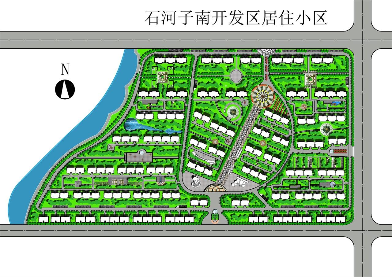 某开发区居住区规划设计方案图-功勋工作室