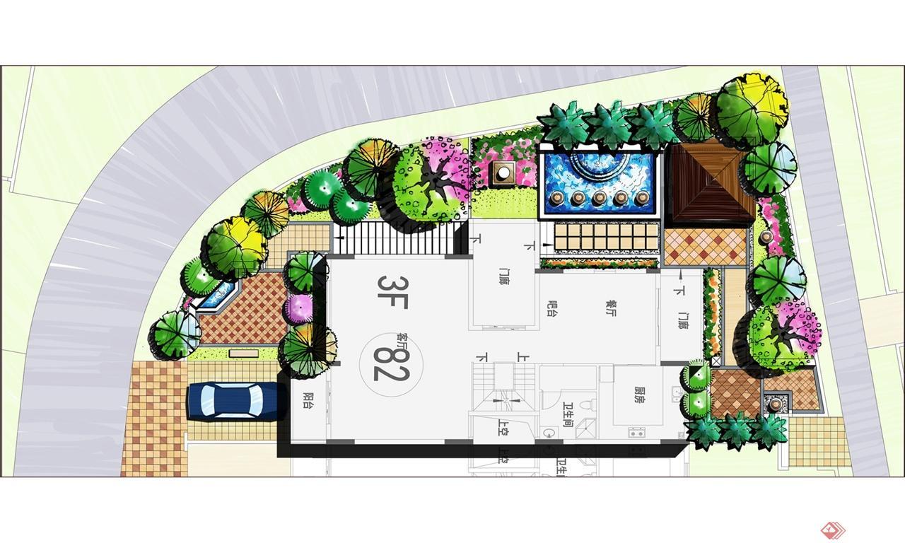 米兰春天——别墅庭院景观设计