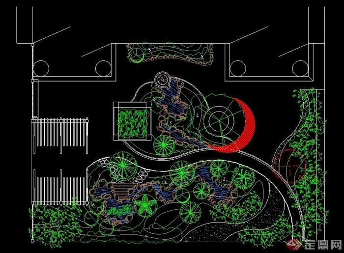 某现代别墅庭院景观设计CAD图图片