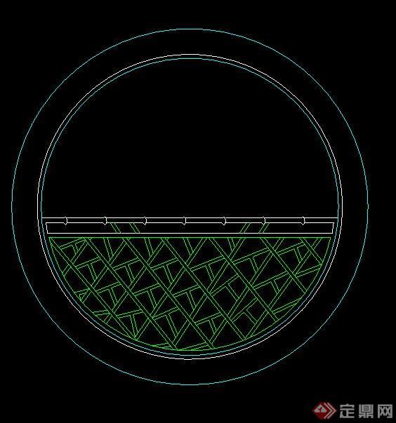 半圆形窗户设计图案纸展示