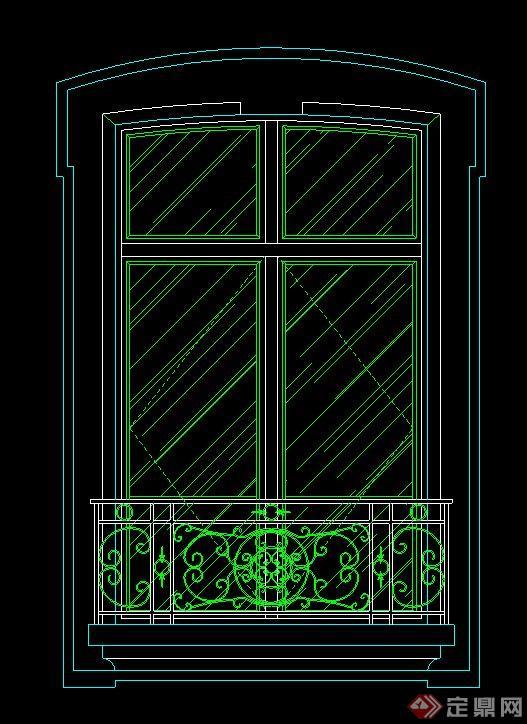 欧式窗户设计cad立面图