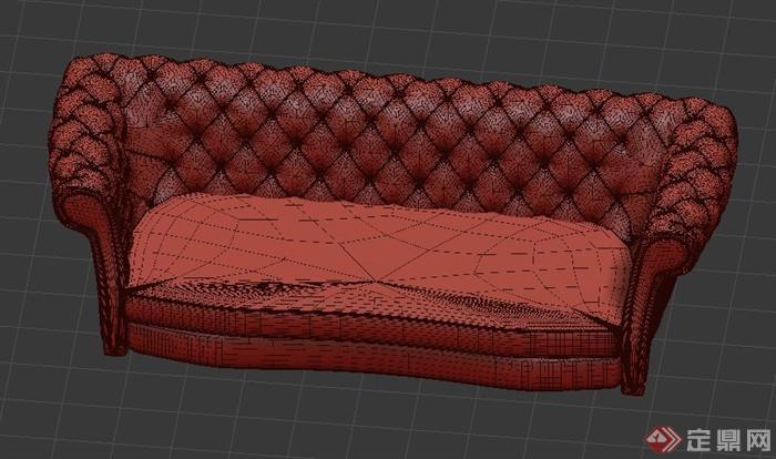 一个欧式双人沙发设计3dmax模型