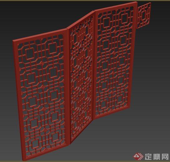室内装饰通花屏风3dmax模型
