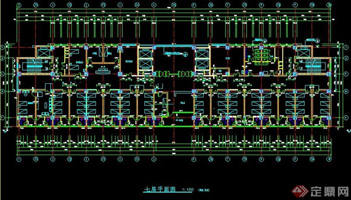 某现代风格医院方案建筑设计高层图200平方米四层半套房设计图图片