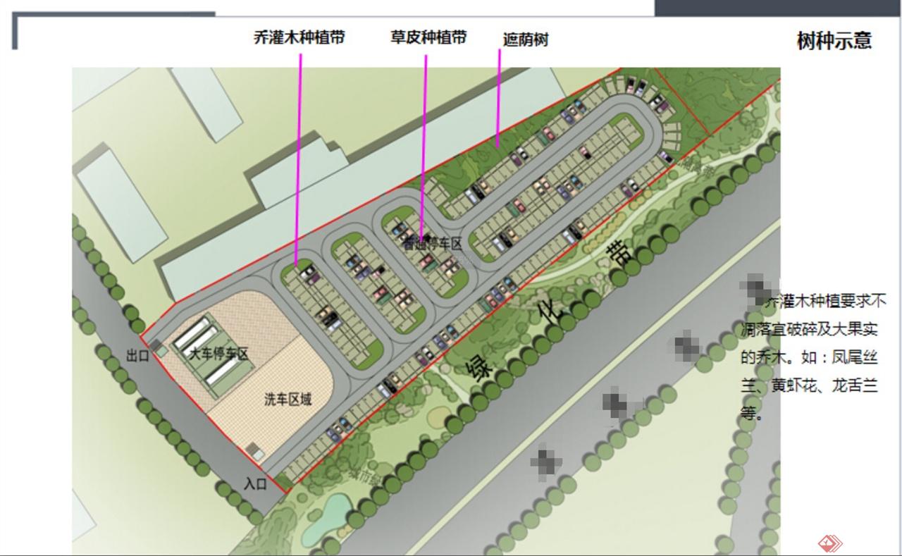 某工业园区停车场规划设计