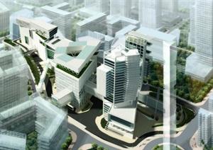 某现代科技创意产业园建筑方案设计图片