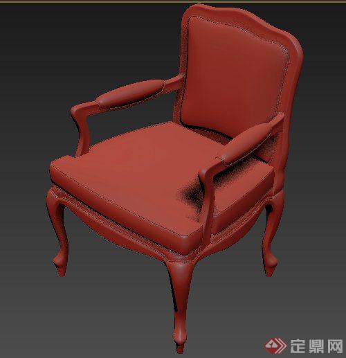 室内装饰欧式椅子3dmax模型
