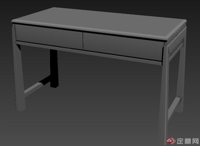 东南亚风格书桌设计3dmax模型