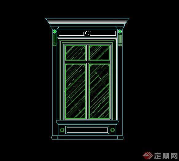 某欧式建筑窗子v窗子CAD立面图cad字体快捷键大如何变什么是图片