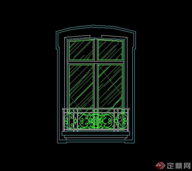 某欧式常用建筑窗子彩色v常用CAD立面图cad2018导pdf住宅图片