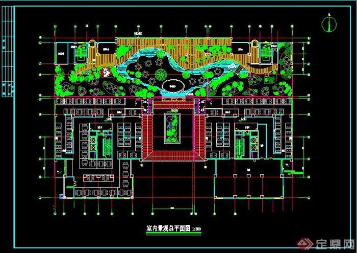 现代会所室内装饰设计CAD平面图