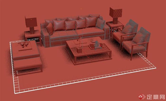 沙发模型制作步骤图