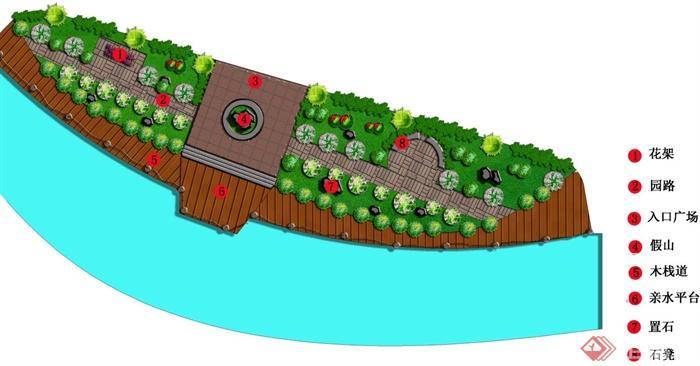 滨水公园景观设计平面图