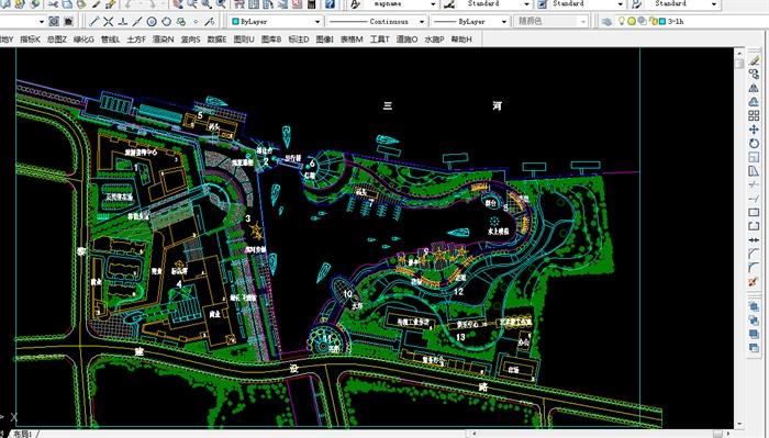 某滨水区景观规划设计方案图(含cad 彩平图)[原创]