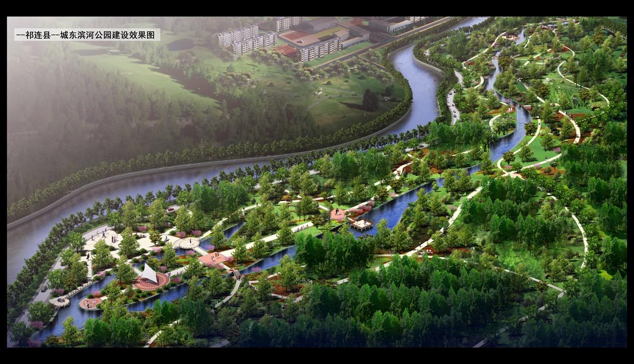 滨河绿地平面手绘图