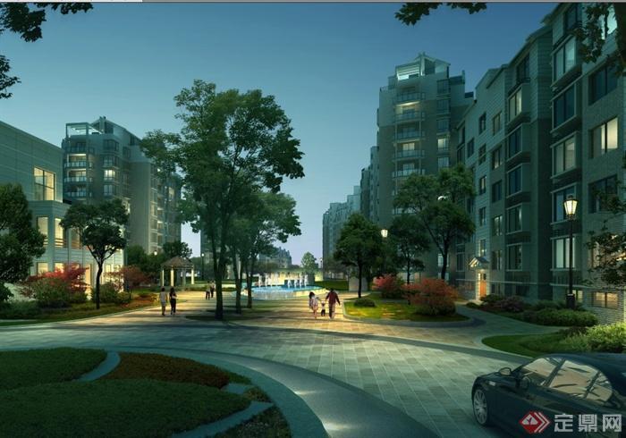 高级住宅区建筑景观规划设计PPT文本