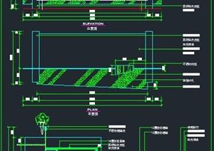 某接待台装饰设计CAD立面图