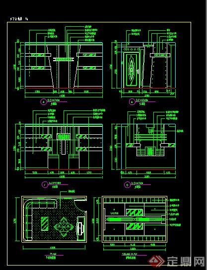 V包房室内设计CAD施工图