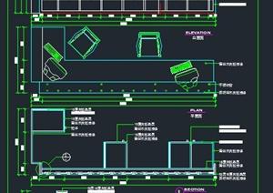 某接待台装饰设计CAD施工图