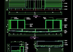 现代某接待台装修设计CAD施工图