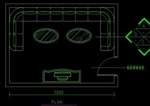 模夘办公节点接待台设计CAD施工图