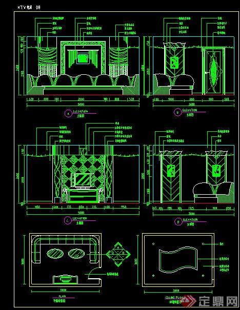 间室内装修设计CAD施工图