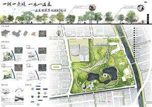 某综合性公园景观规划设计展板方案图片