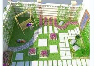 多款庭院花园景观设计方案与实景图