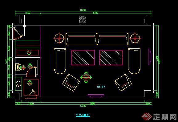 某现代KTV包房室内设计方案图(含效果图)(2)
