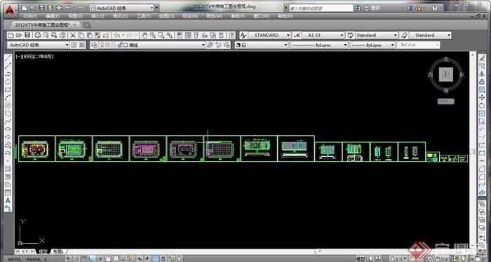 某现代KTV包房室内设计方案图(含效果图)(5)