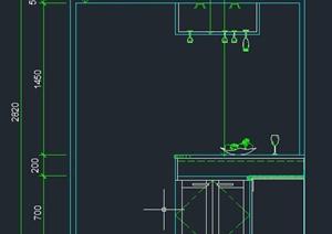厨房橱柜装饰设计CAD立面图