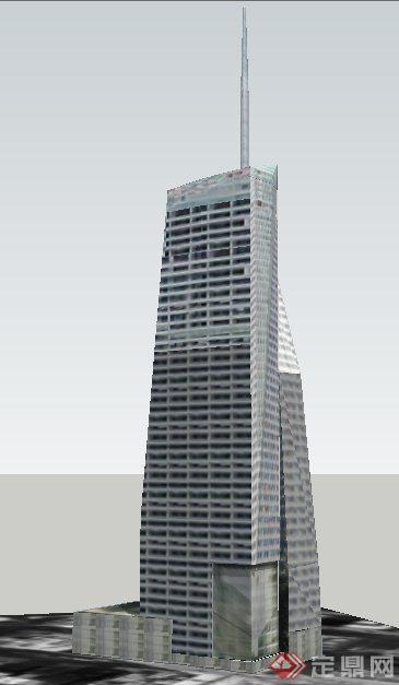 现代风格美国银行大楼建筑钱柜娱乐su模型