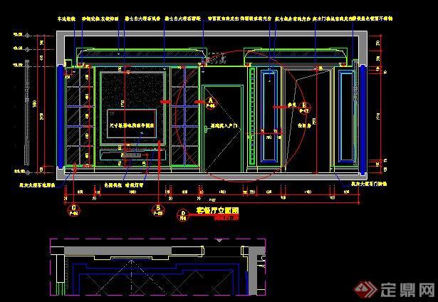 置、地面铺装、天花吊顶、立面图、剖面图、节点详图,图纸内容细致