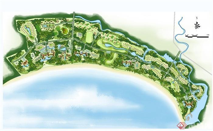 56张住宅,旅游,城乡规划,公园等景观设计彩平方案图(bmp,jpg)