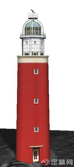 某欧式瞭望塔建筑设计su模型