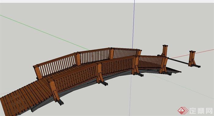 十款木质古桥设计su模型[原创]