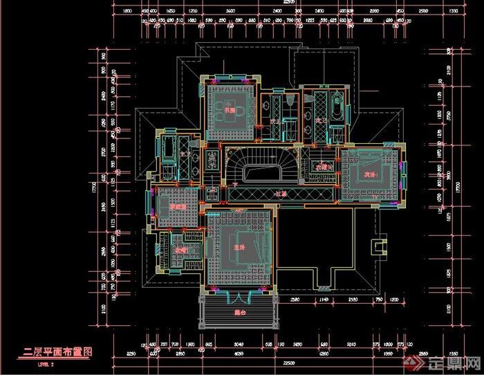 某欧式风格别墅室内设计施工图(含文本意向图)