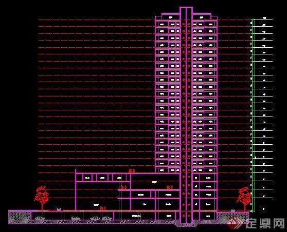 某地高层图纸建筑设计图纸房子方案装修酒店设计图图片