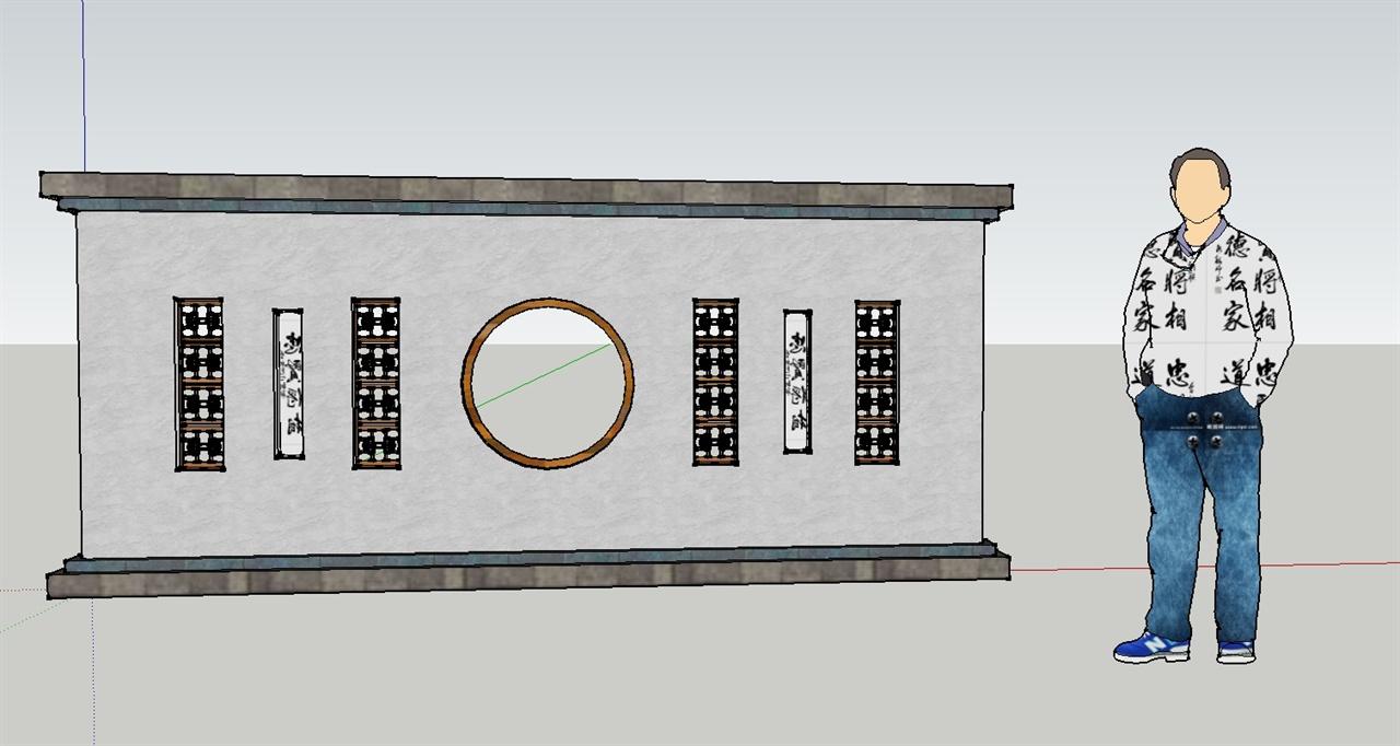 中式景墙设计                  优秀