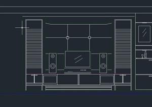 客厅背景墙设计CAD立面图