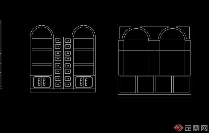 室内家具柜子,椅子,办公桌设计cad立面图
