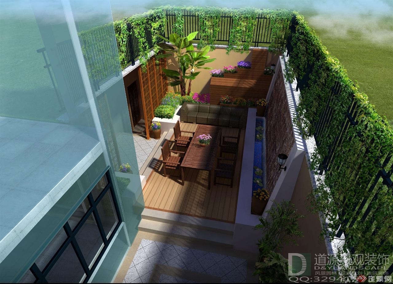 d&y丽湾域庭院下沉庭院鸟瞰效果图