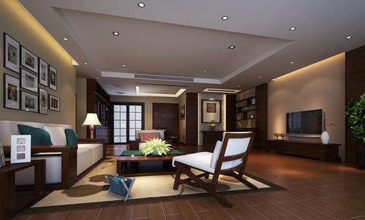 新中式银湖山庄室内设计