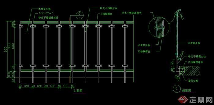 欧式栏杆设计cad施工图