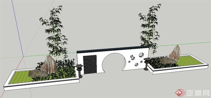 灯龛,种植池su模型