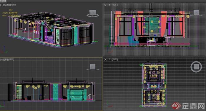 某现代酒吧室内设计3dmax模型